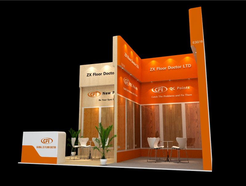 Exhibition Booth of Global ZX Floor Doctor Ltd.